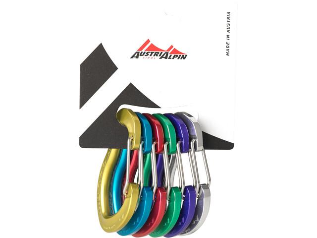 AustriAlpin Micro Friends Wiregate Set Moschettoni 6 pezzi, multicolor